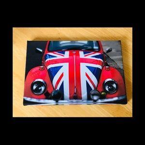 🌼VW Bug with British Flag Fine Art Print